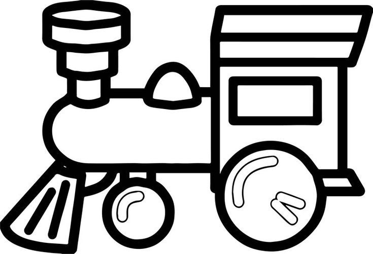 One Toy Train Coloring Page Train Coloring Pages Toy Train