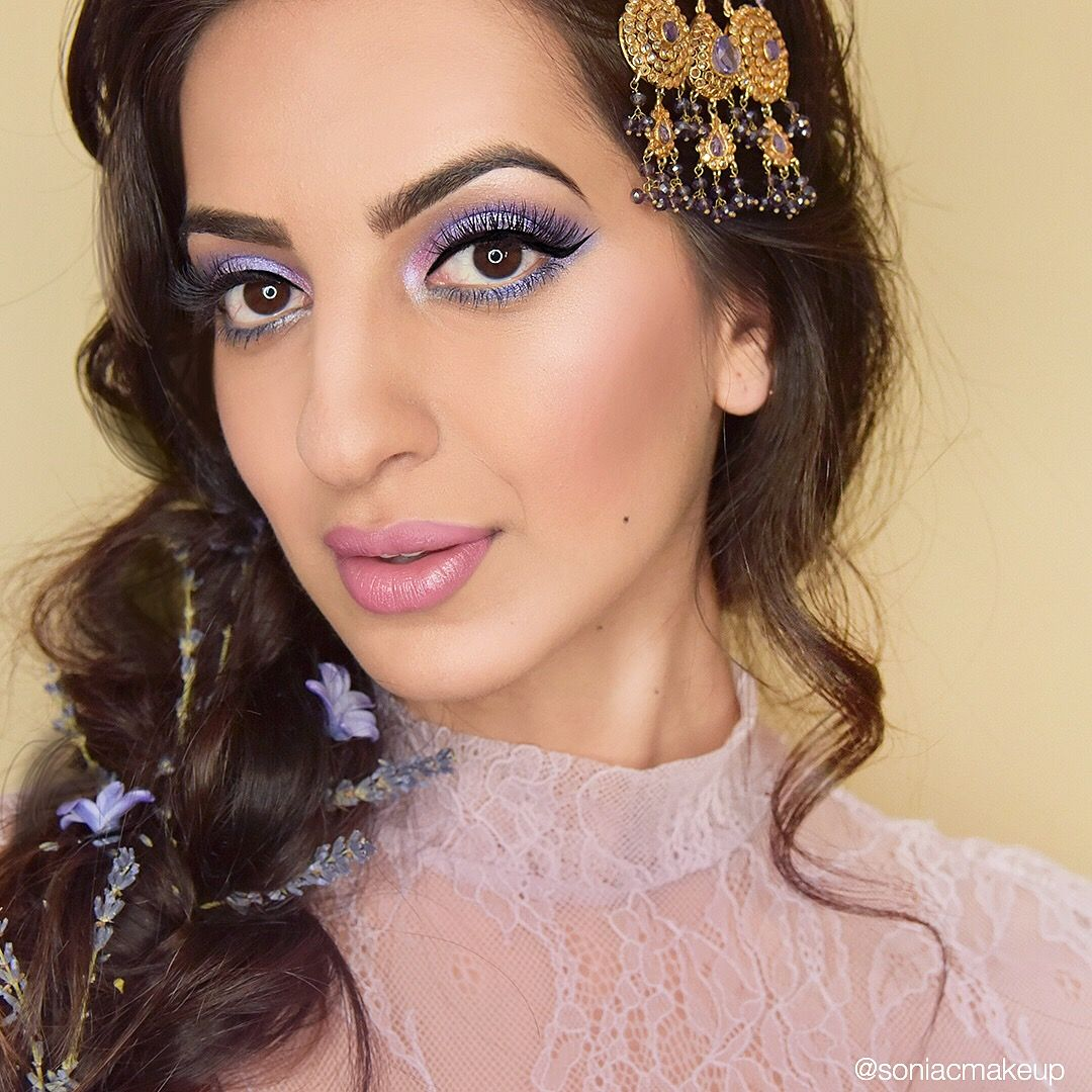 Bridal makeup, pakistani bridal makeup, colored eyeshadow