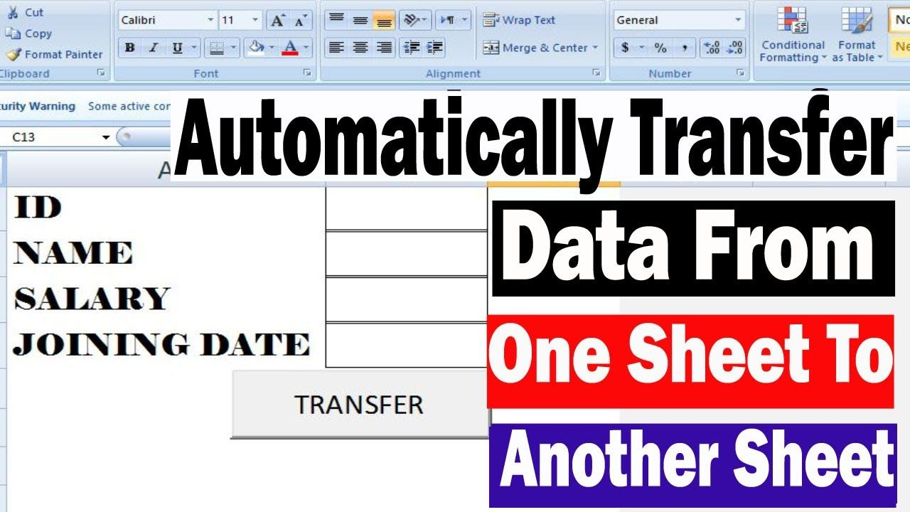 Automatically Transfer Data From One Sheet To Another Sheet With Vba Cod Excel Tutorials Learning Centers Free Learning Excel vba get active worksheet name
