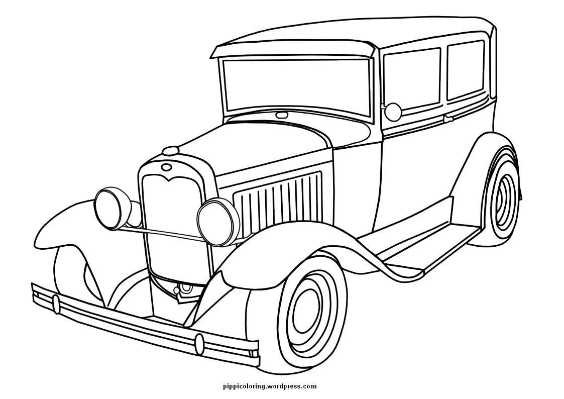 Old Cars Coloring Pages Cars Coloring Pages Truck Coloring