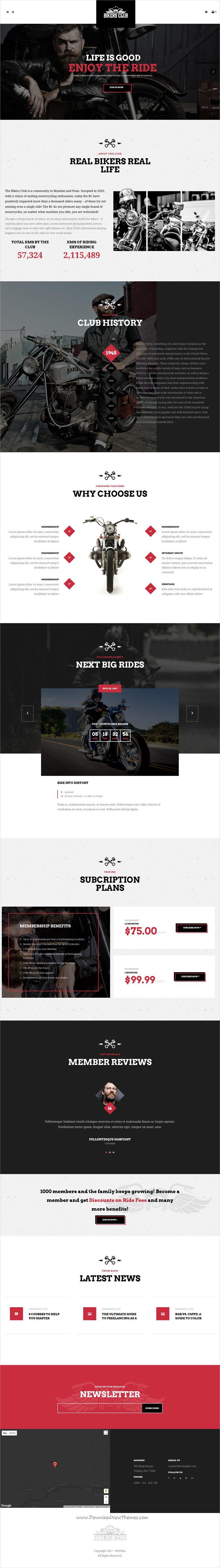 Bikersclub - Motorcycle Responsive WordPress Theme   Wordpress ...