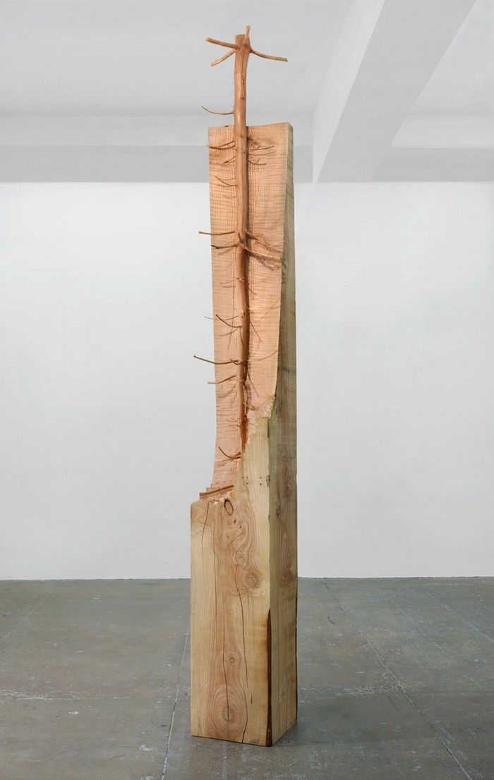 Tree carved sculptures by Giuseppe Penone   Modern sculpture