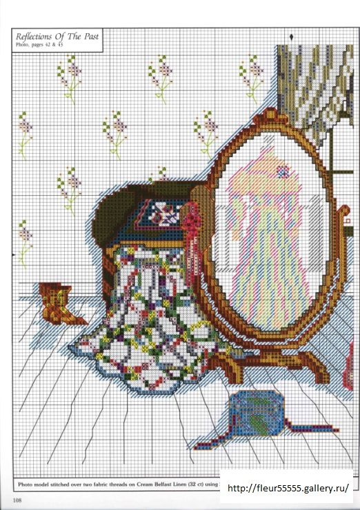 """""""Reflections of the Past"""" cross stitch pattern by Paula Vaughan.  Found on fleur55555.gallery.ru - (small pattern)"""