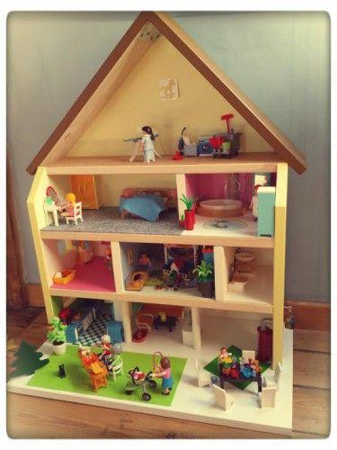 Maison playmobil till the cat maison playmobil bricolage for Modele maison playmobil