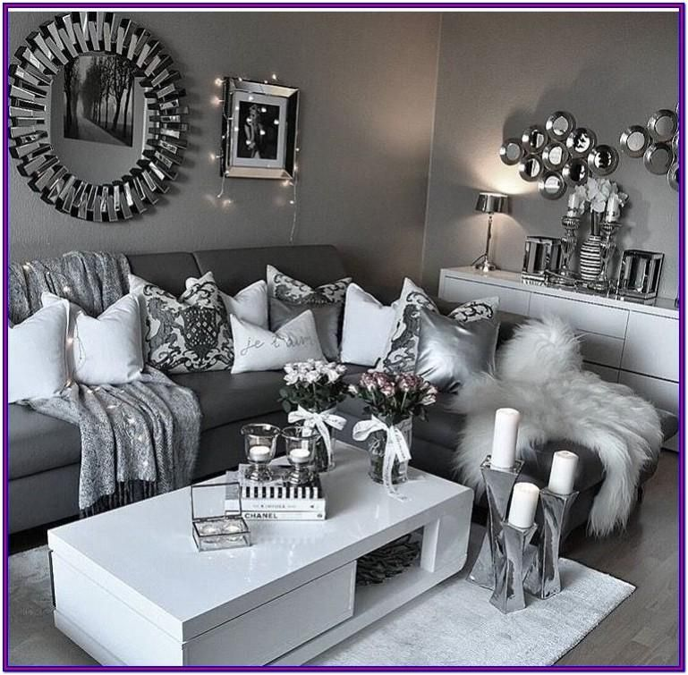 Cozy Modern Grey Living Room Decor In 2020 Silver Living Room Silver Living Room Decor Living Room Decor Gray