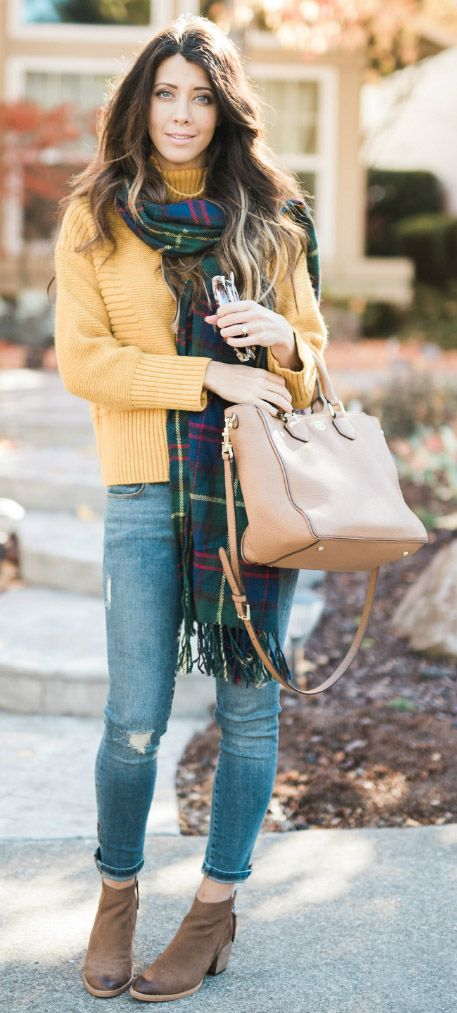 Soufflé Cable Knit Sweater in Mustard  @thegirlintheyellowdress