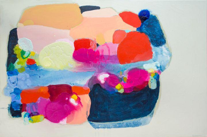 """Juicy Burger"" by Claire Desjardins. 48""x72"", Acrylics on canvas."