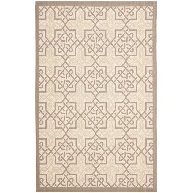 This poolside indoor outdoor rug is great for your deck or right next to the pool. This rug will provide a perfect place for relaxing outside and will be perfect right by the ladder in your pool. With a geometric look, this rug is simple yet elegant.