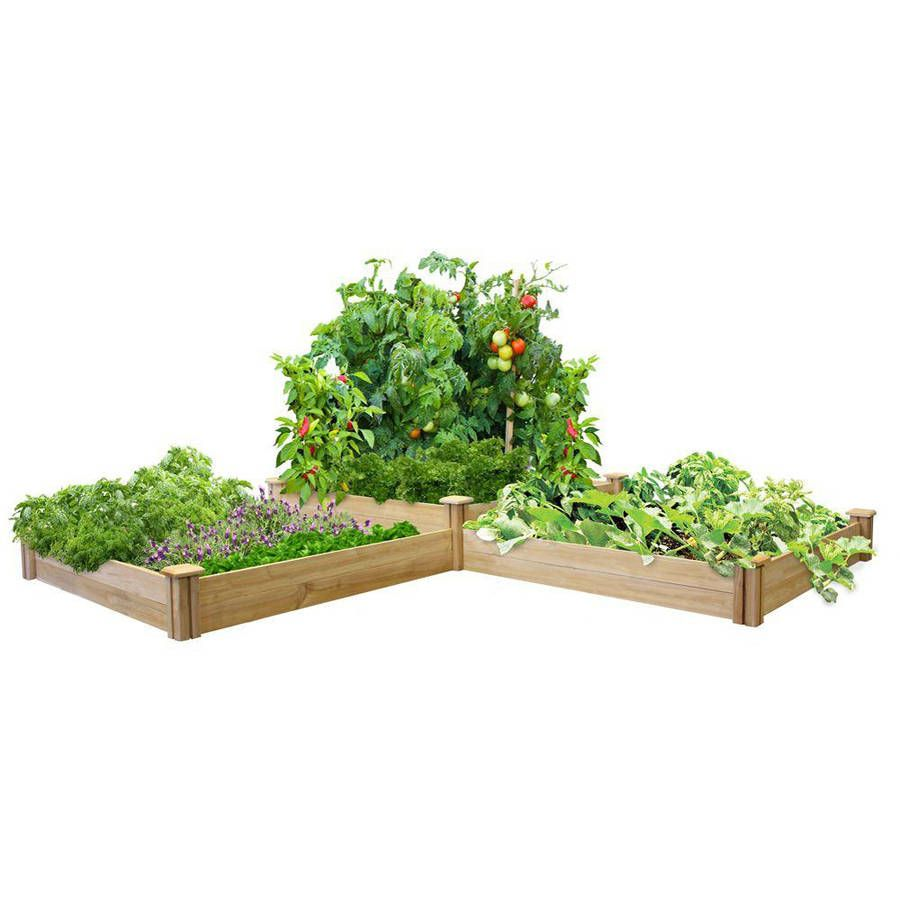 Greenes Fence 2 Tiers Cedar Raised Garden Bed Walmart Com