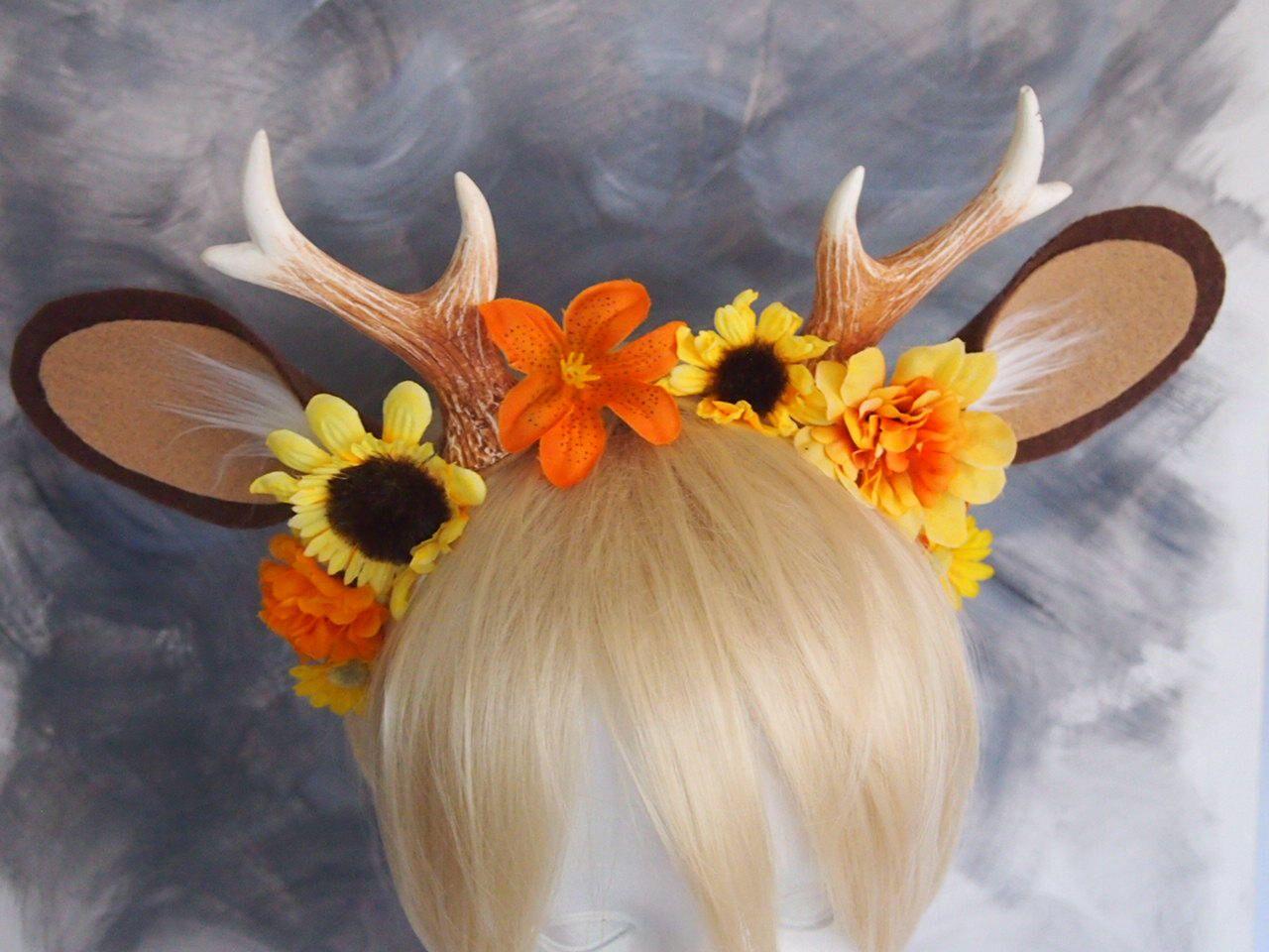 Sunflower Summer Faunfawn costumehorns