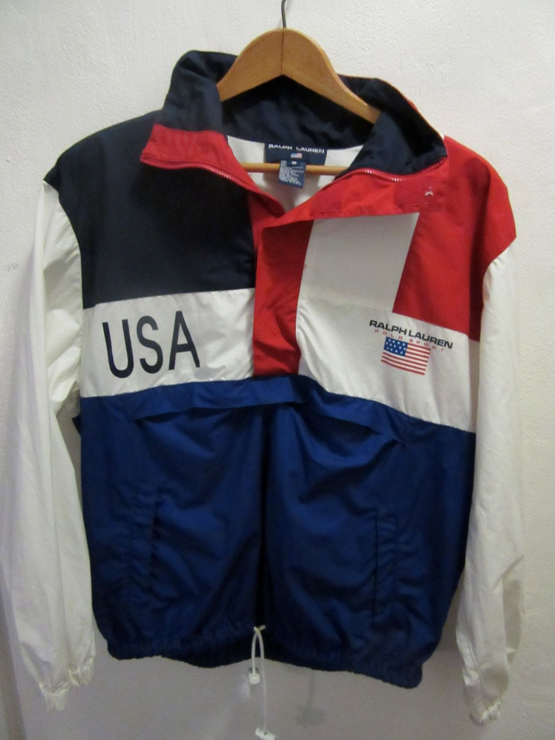 65999ecbe Vintage 90 s Ralph Lauren Polo Sport USA Pullover Jacket