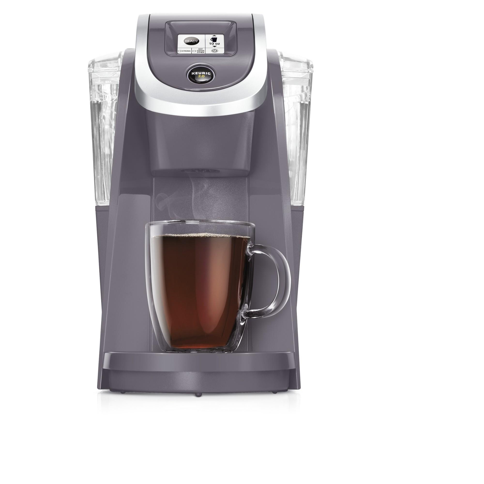 Keurig K200 Plum Gray, Single Serve Coffee Maker Pod