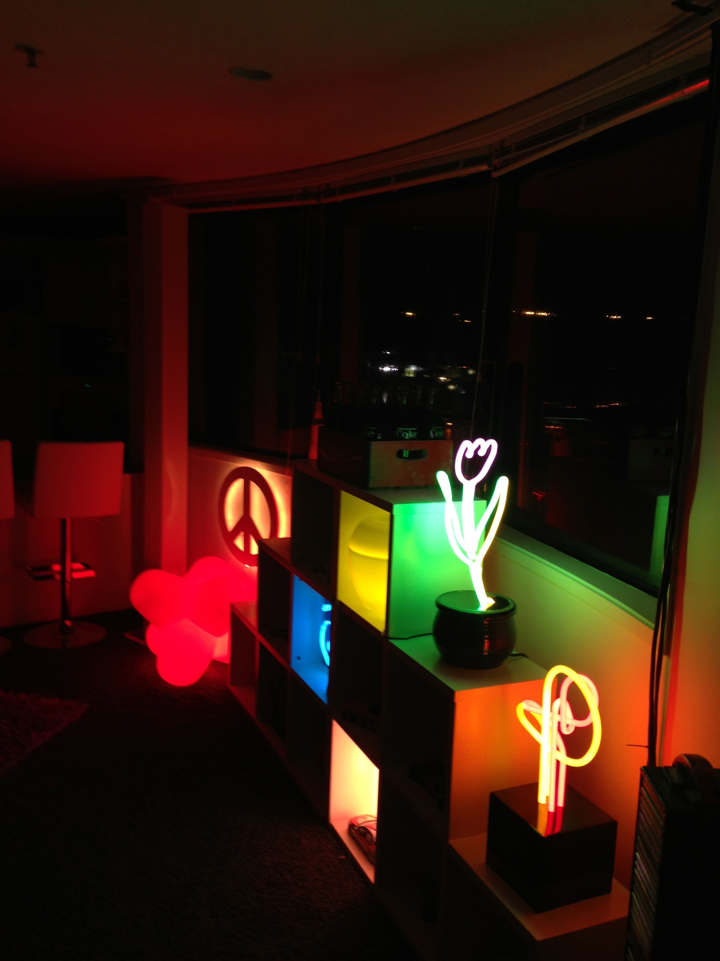 My neons in the lounge.