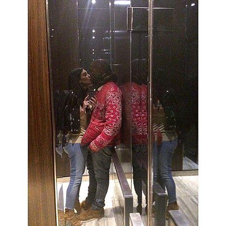 Elevator Smooch Kim Kardashian Kisses Kanye West In Romantic Instagram Kim Kardashian Kiss Kim Kardashian And Kanye Kim Kardashian Kanye West