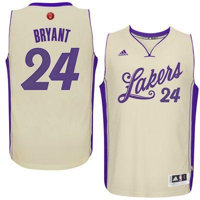 e0427ca38 2015 Men s Los Angeles Lakers Kobe Bryant adidas Cream Christmas Day  Swingman Jersey  MambasGreetings!