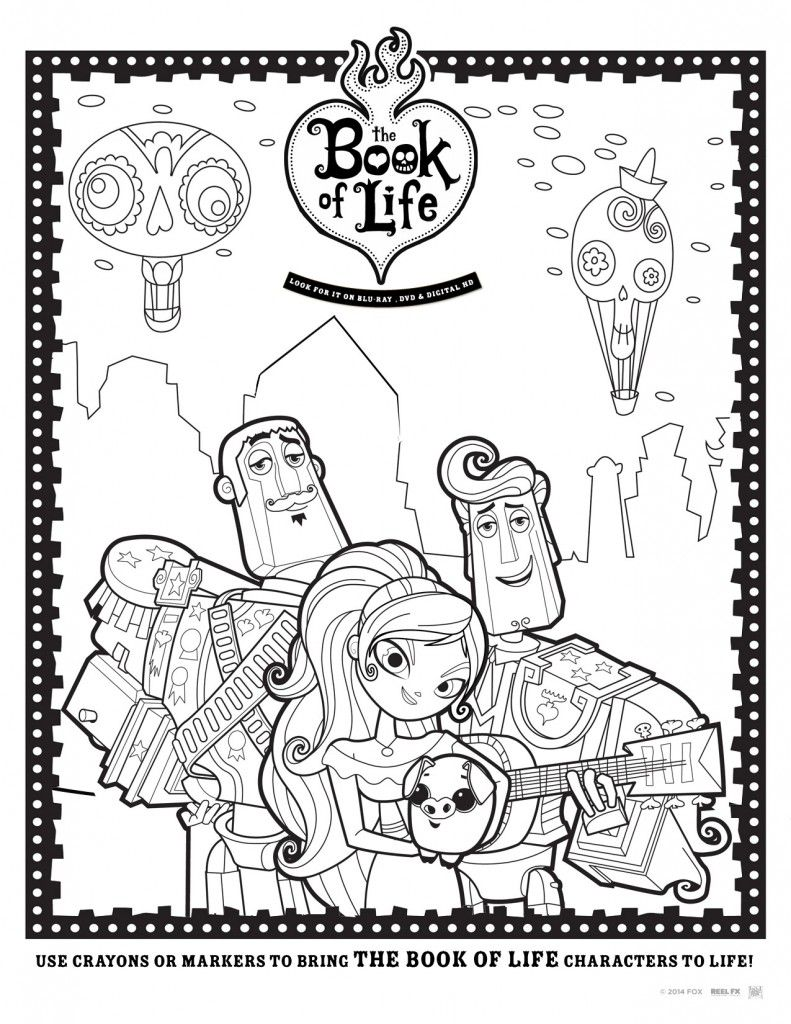 book of life coloring pages Manolo, Maria y Joaquin   The Book of Life | Stephanie's 8th bday  book of life coloring pages
