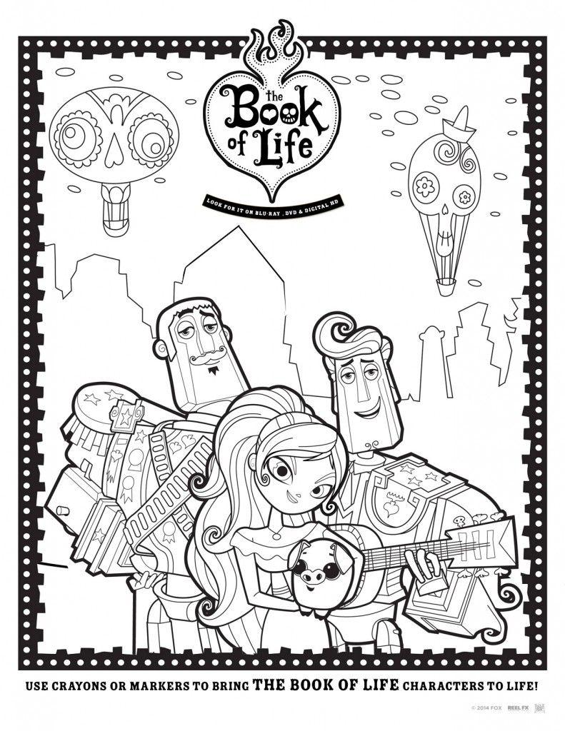 Manolo Maria y Joaquin  The Book of Life  Dibujos para colorear