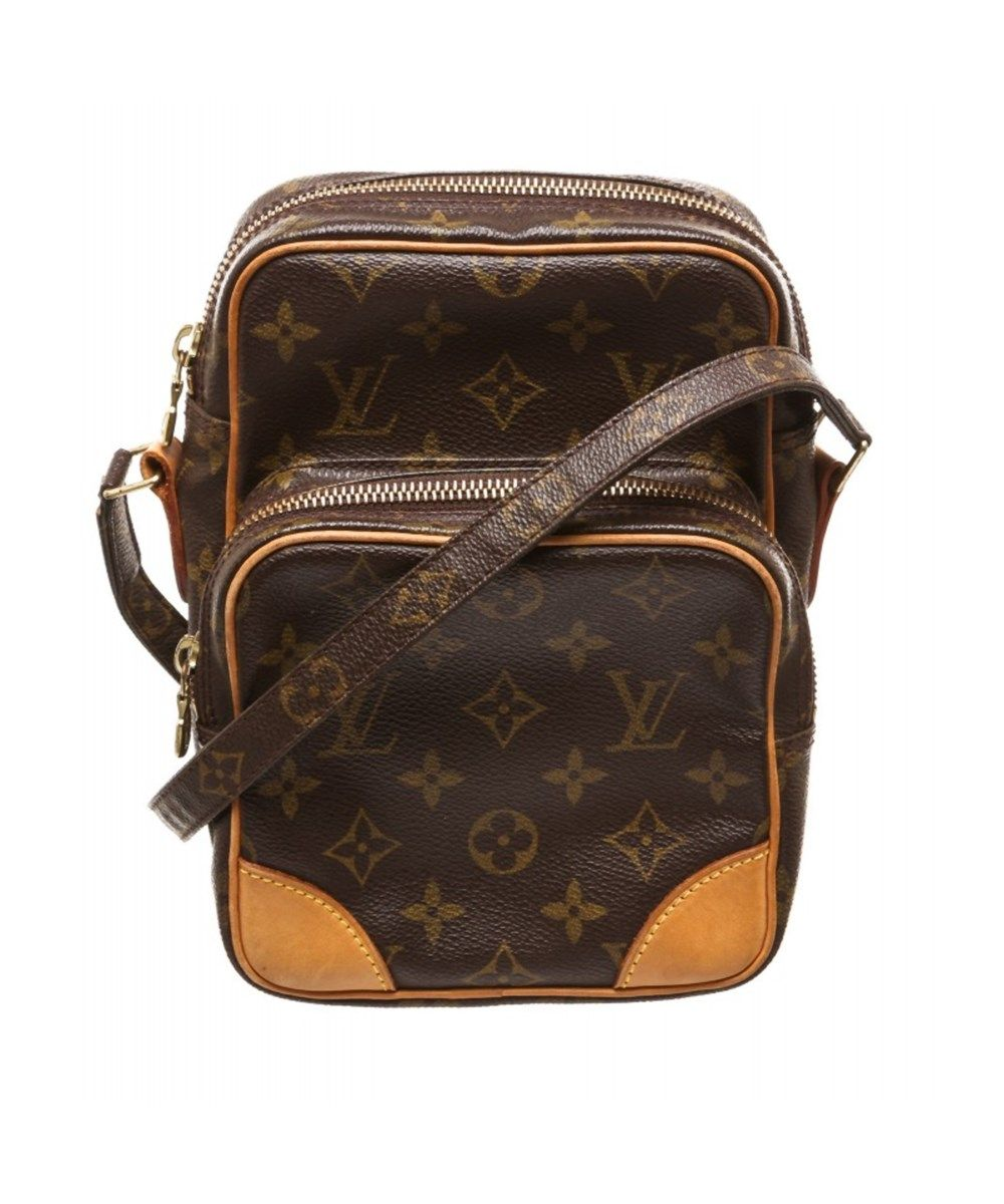 Pre Owned Louis Vuitton Monogram Canvas Leather Amazon Crossbody Bag In Brown Louis Vuitton Shoulder Handbags Purses Crossbody