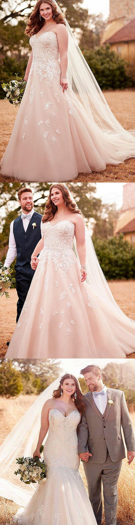 Awesome & Unique Plus Size Ivory Wedding Dresses for curvy / curves ...
