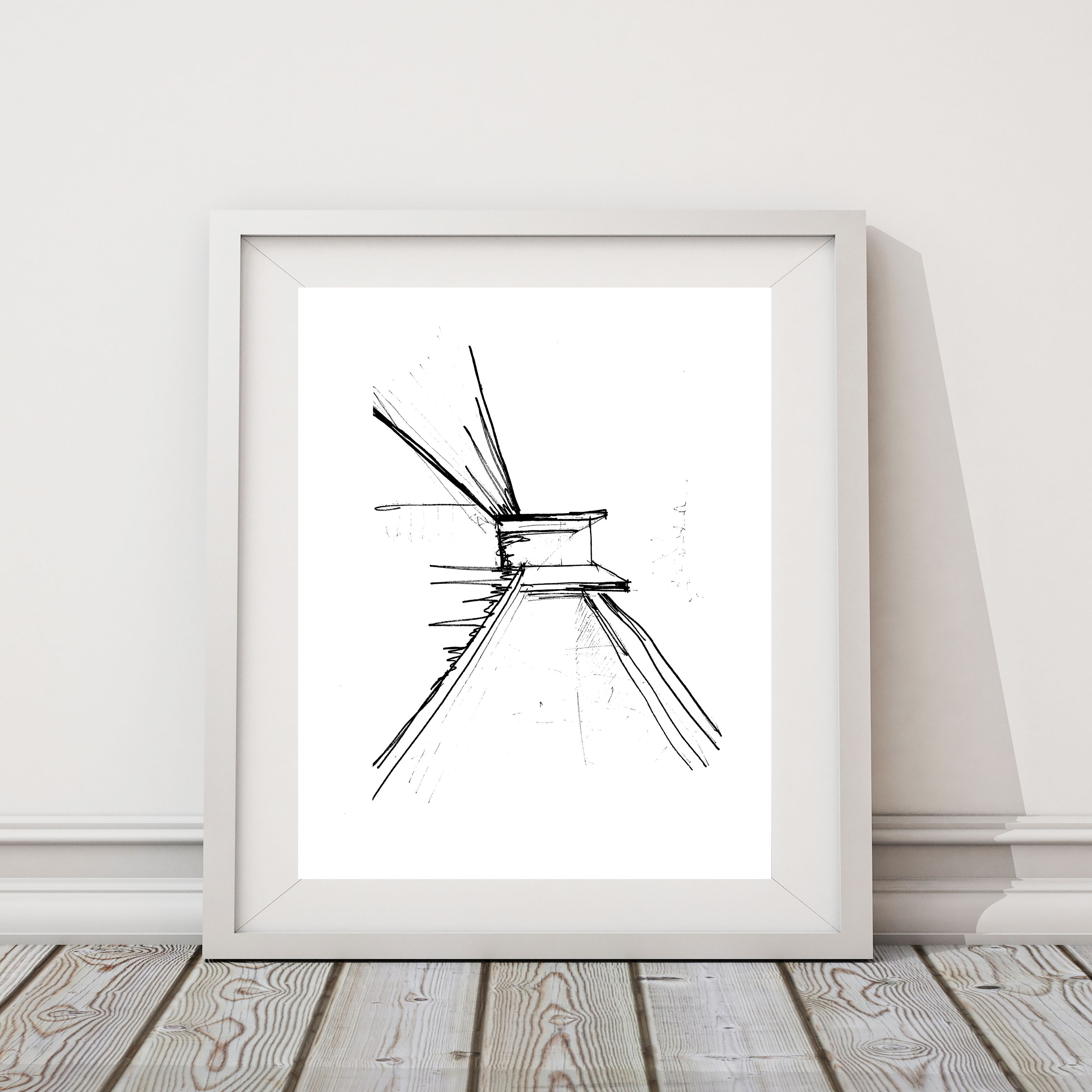 This mid century modern art print will enhance any home or office