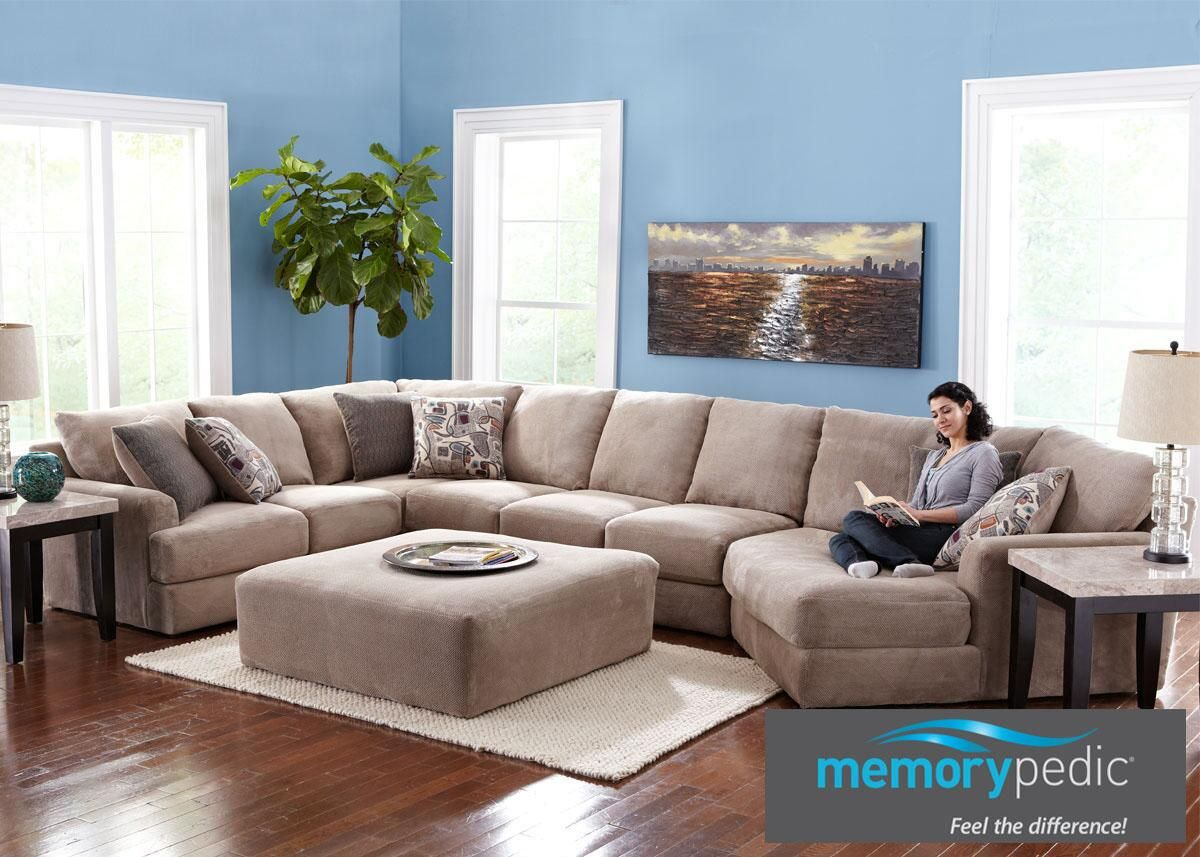 Monterey 3 Pc. Sectional with Cuddler Chaise : cuddler chaise - Sectionals, Sofas & Couches