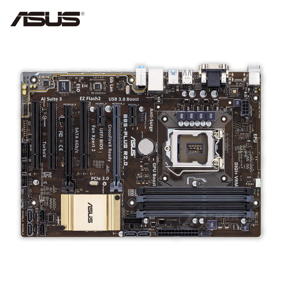 Original Used Asus B85 Plus R2 0 Desktop Motherboard B85 Socket