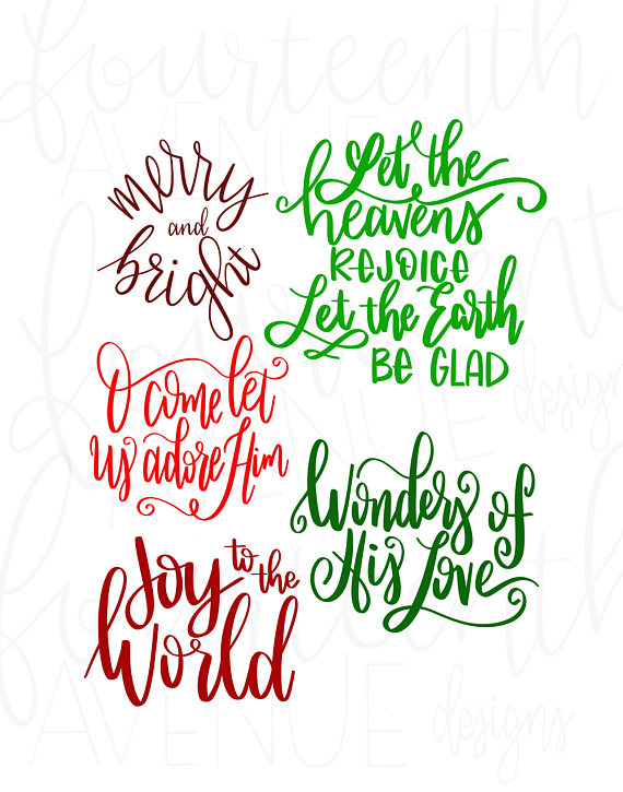 Christmas Overlays  Hand Lettered Holiday PNG Christmas Card Overlays  Text Overlays  Word Overlay  Christmas Card Lettering