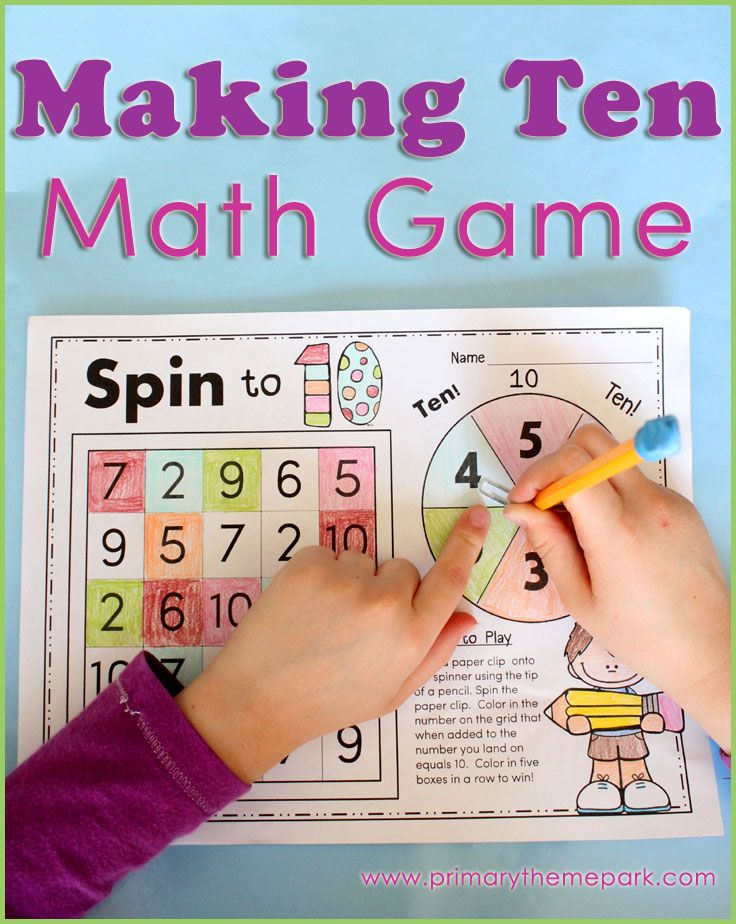 image regarding Making 10 Games Printable referred to as Creating 10 Functions Math Routines for Small children Math