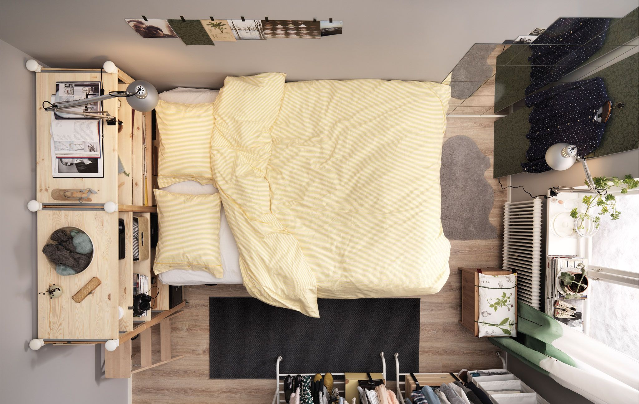 Square metre challenge part 1: bedroom for two | Bed | Pinterest ...
