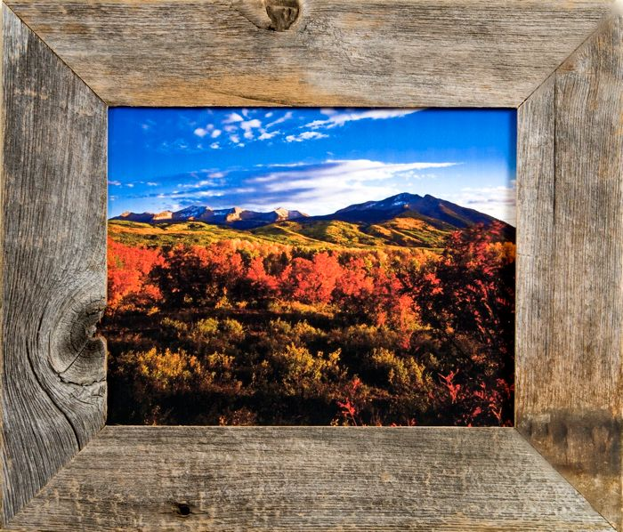 9x12 Rustic Wood Picture Frames, 2 inch Wide, Homestead Series   For ...