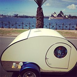 Gidget Retro Teardrop Camper Goes To Sydney Harbour And A View Of The Opera House