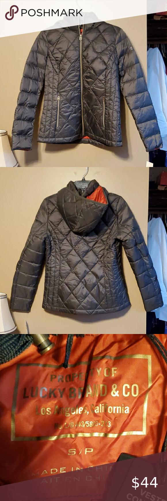 Nwt Lucky Brand Coat Coats Jackets Women Red Puffer Jacket Packable Coat [ 1740 x 580 Pixel ]