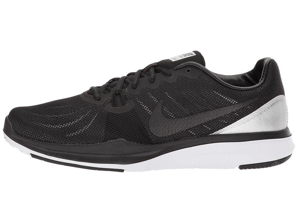 64b8fbe4d145b Nike In-Season 7 Premium Women s Cross Training Shoes Black Chrome White