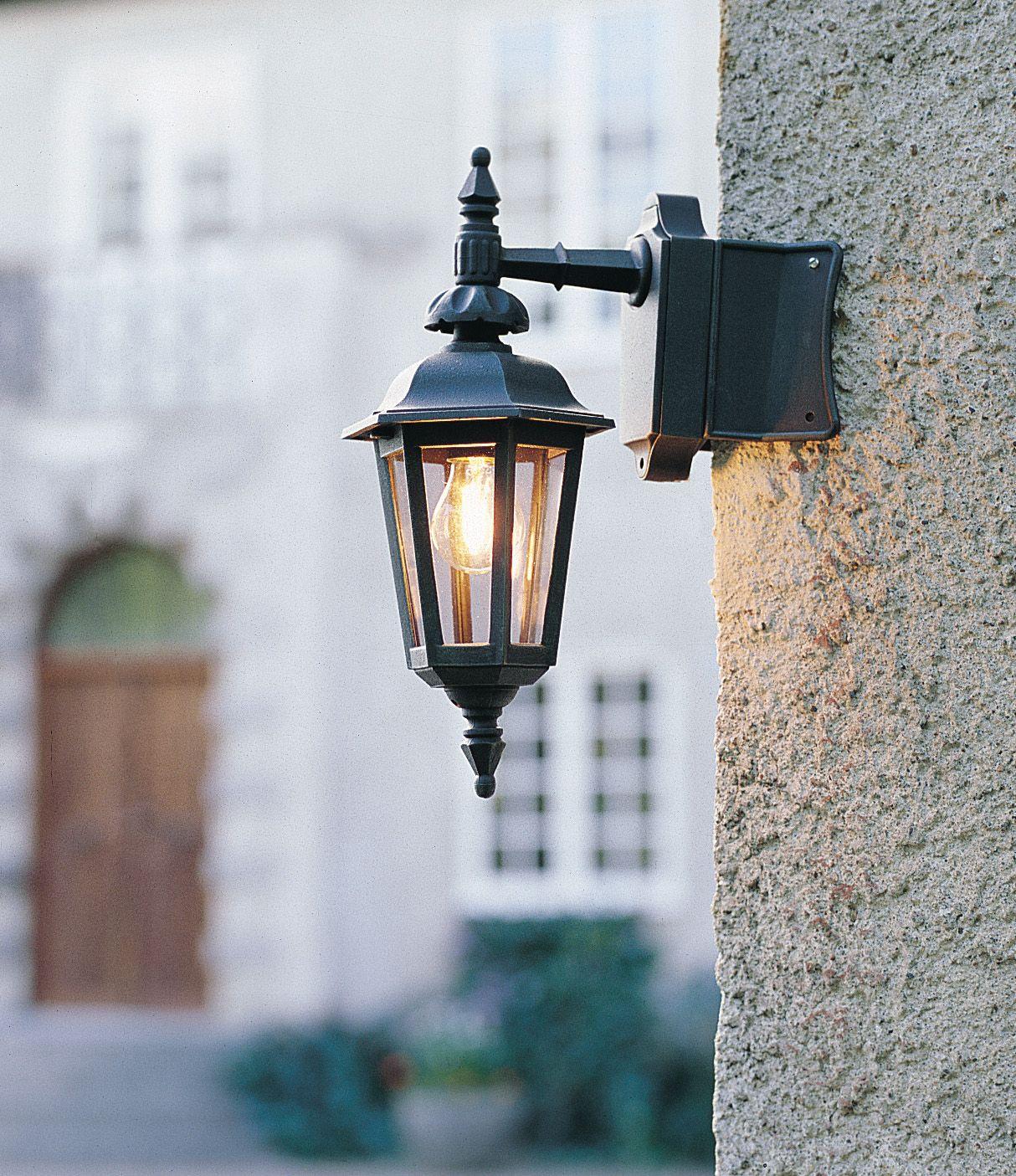 Wandlamp Pallas Glaukios neerwaarts Zwart 519 750 Konstsmide