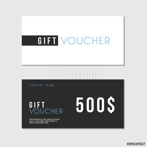vector voucher template with premium minimal style pattern gift