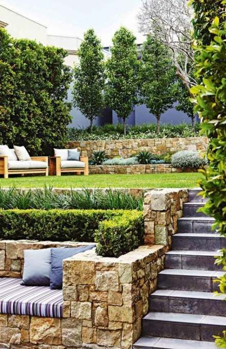 43 Trendy Above Ground Pool Landscape Ideas Plants Retaining Walls
