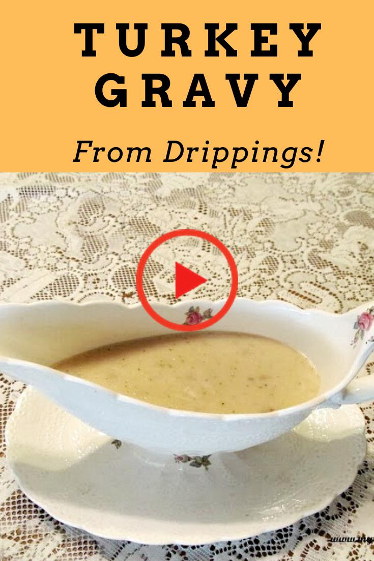 Easy Turkey Gravy from Drippings #turkeygravyfromdrippingseasy Turkey gravy from drippings is #turkeygravyfromdrippingseasy