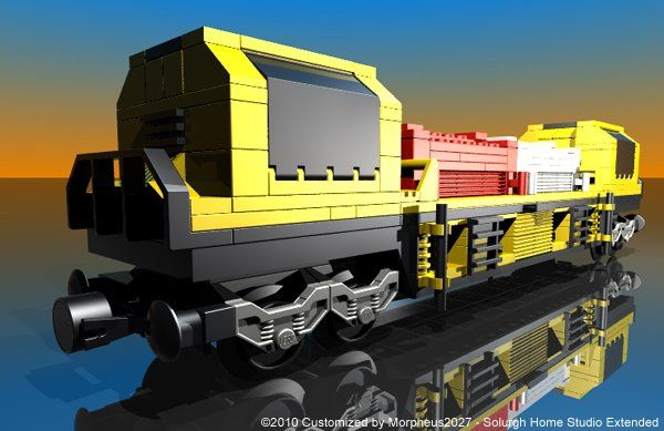 Lego 10170: TTX Intermodal Double-Stack Car - Customized by Morpheus2027