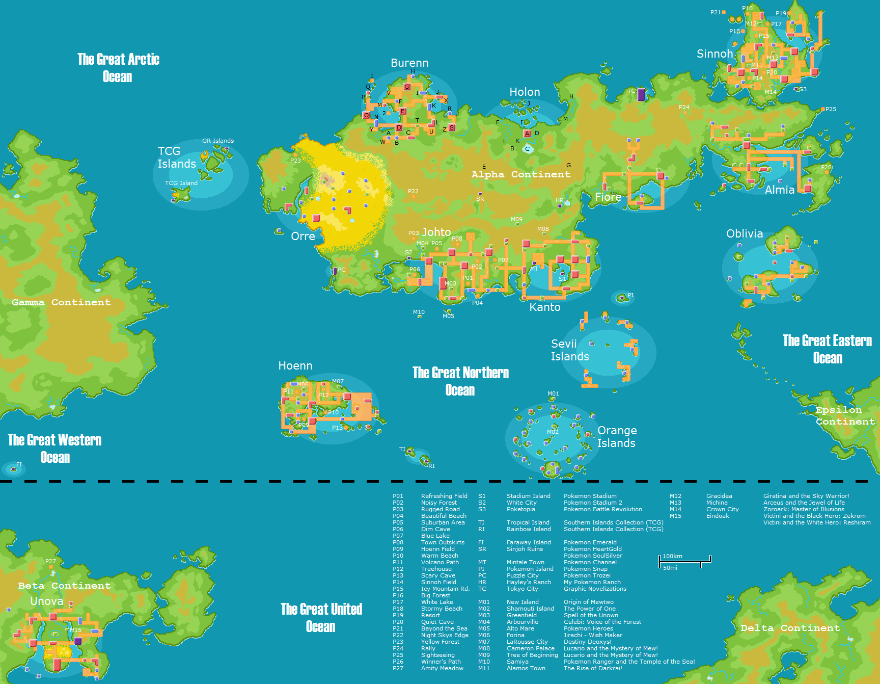 My Pokemon World Map v6.0 by JamisonHartley on DeviantArt | Pokemon ...