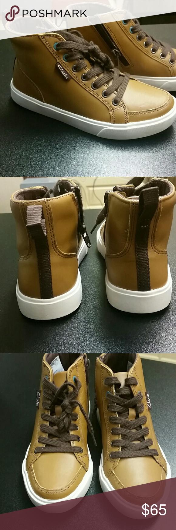 Boys boot sneaker clarks Tan leather