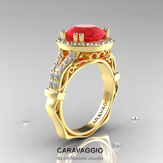 Caravaggio 14K Yellow Gold 3.0 Ct Ruby Diamond by DesignMasters, $1649.00