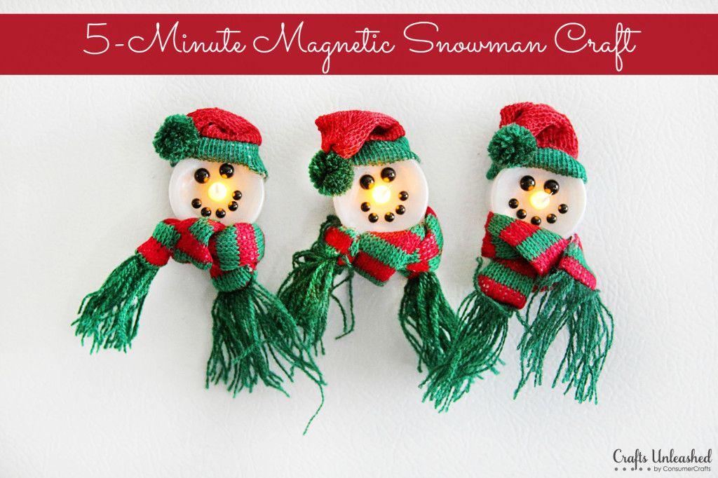 Snowman Crafts 5Minute (Lightup!) Tutorial