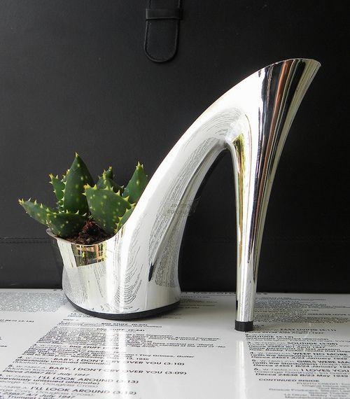 Succulent Shoe Plant Holder