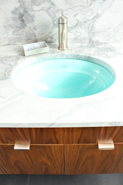 Bathroom Reno Update: Mid-Century Modern Inspired Cabinet Pulls ...
