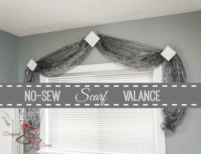 No Sew Scarf Valance  Simple Window Coverings