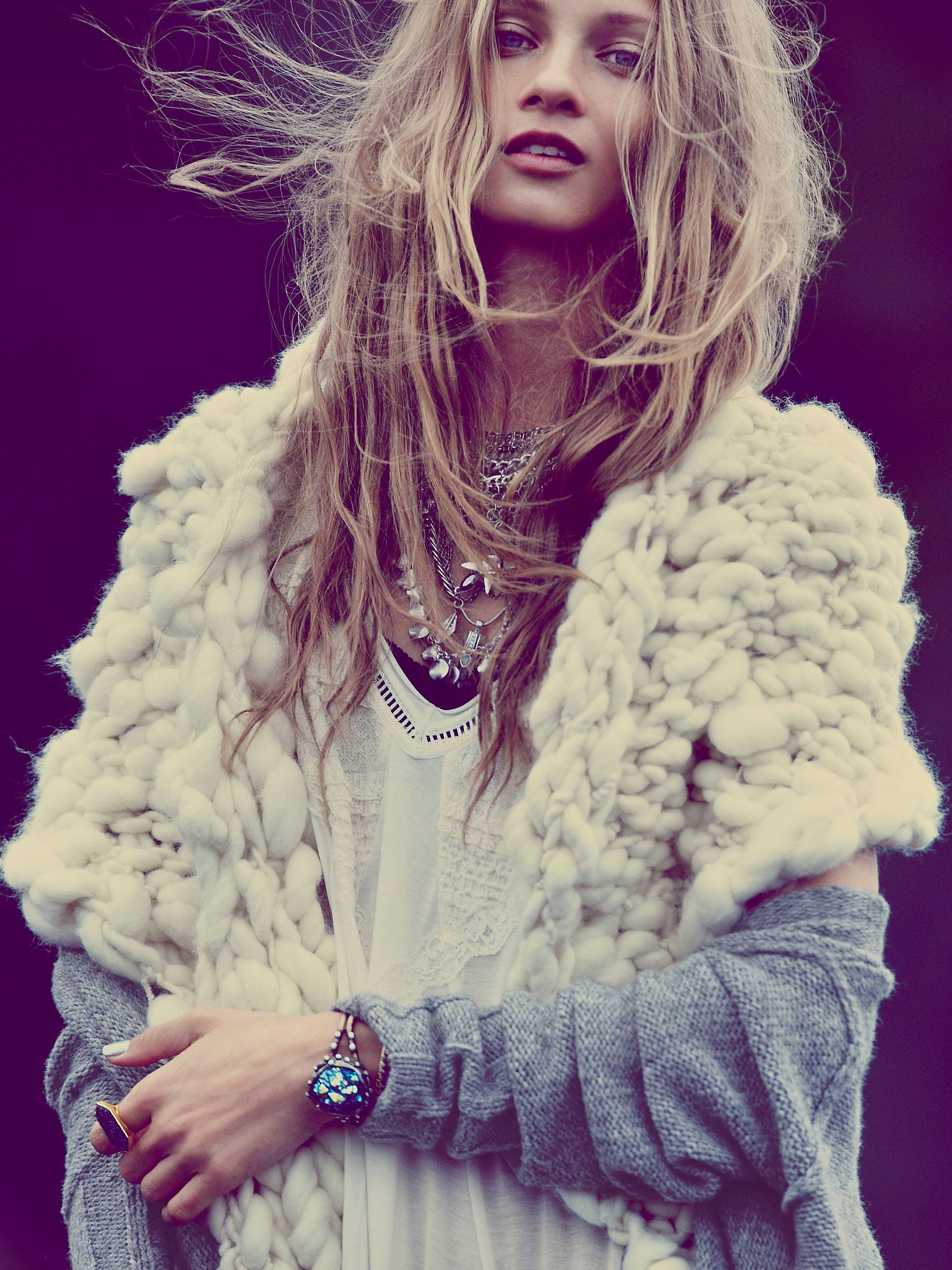 Anna Selezneva for Free People Super Chunky Merino Shawl at Free People Clothing Boutique