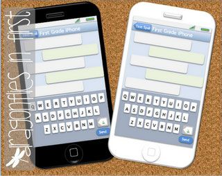 """iPhone FREEBIE!  Kids can use it to """"text"""" their spelling words or sight words!  SO CUTE!!"""