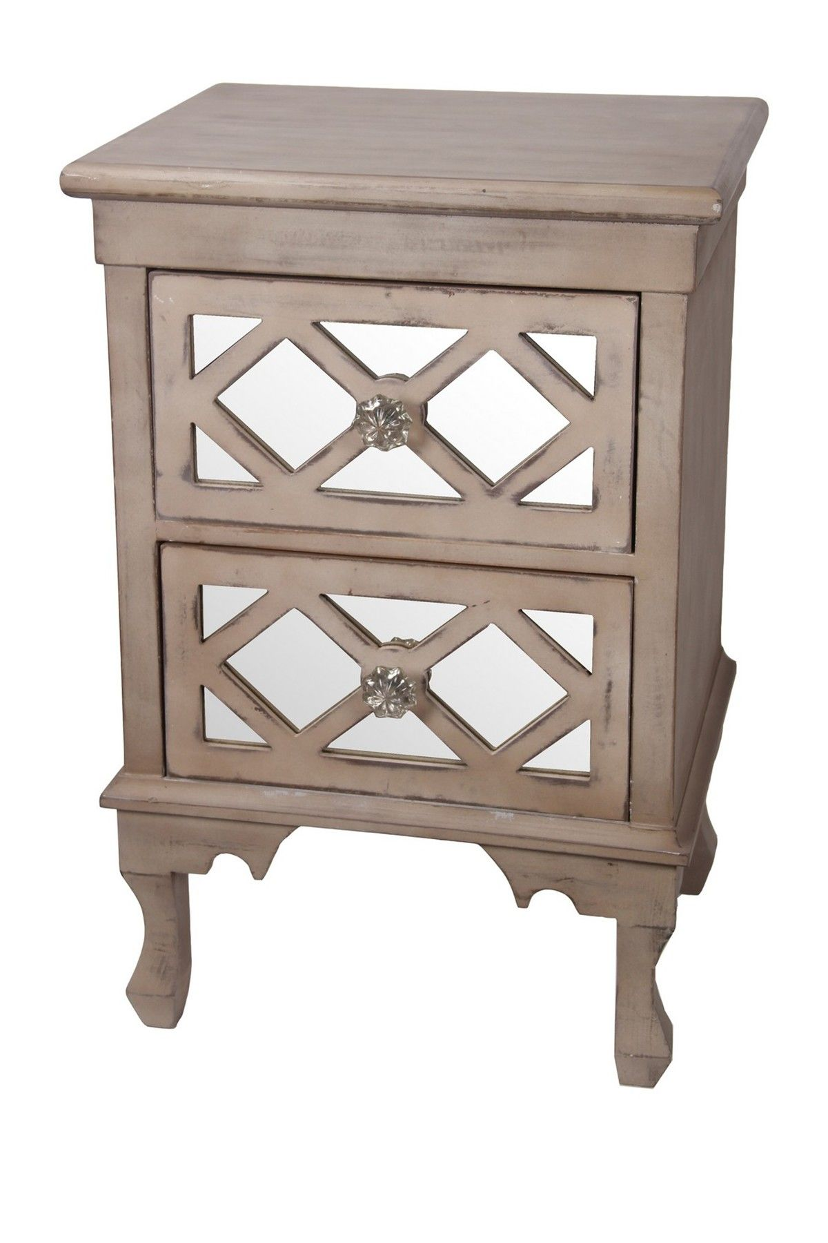 Mirrored Two Drawer Chest Side Table By Privilege Home Decor On  @nordstrom_rack