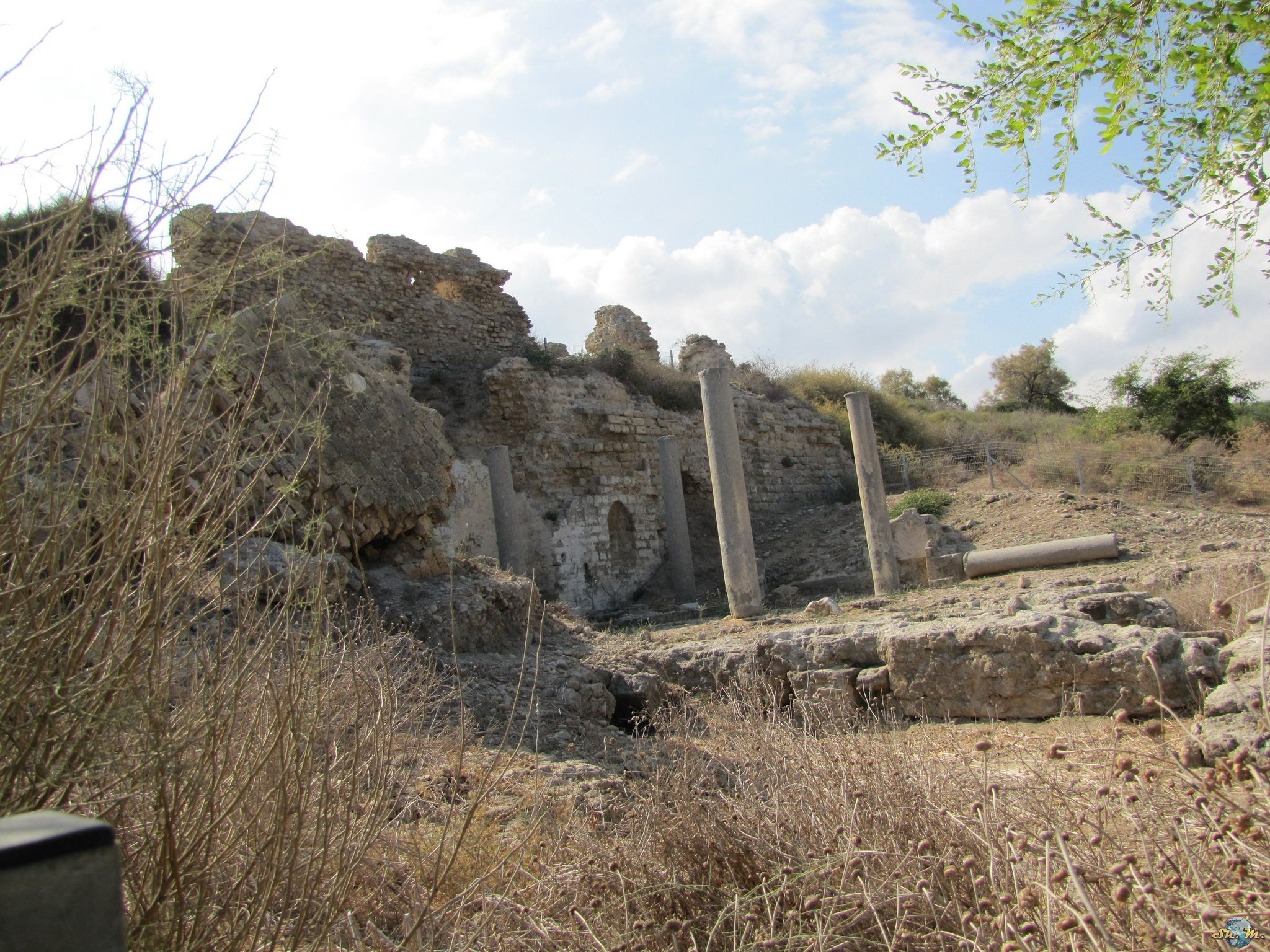 https://flic.kr/p/Q2GyHk   Ashkelon National Park   Ashkelon National Park is an Israeli national park along the shore of the Mediterranean sea southwest of the city of Ashkelon. The national park is situated in the heart of ancient Ashkelon. It is surrounded by a wall built in the mid-12th century by the Fatimid Caliphate. The wall was originally 2,200 meters in length, 50 meters in width and 15 meters in height. The remains of the wall are located in the eastern and southern parts of the…