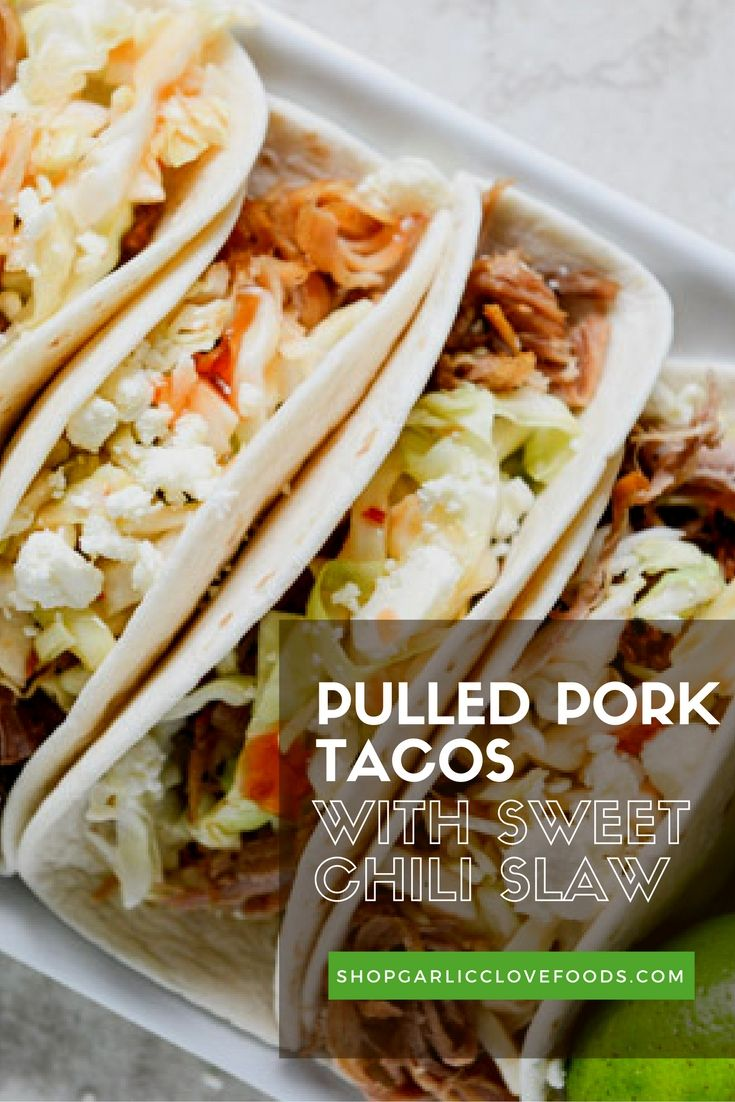 Our Slow Cooker Spice Blends make Taco Tuesday a snap! Check out the recipe, and the Pulled Pork Slow Cooker Spice Blend, at shopgarlicclovefoods.com.
